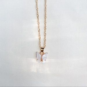 - opal white enchanted necklace